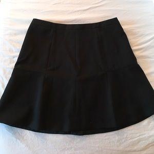 J Crew Black fluted skirt sz 10
